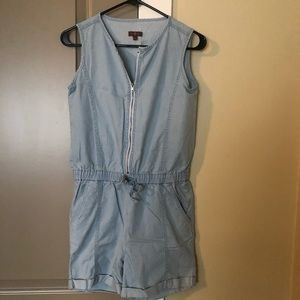 7 For All Mankind Girls Chambray Romper L